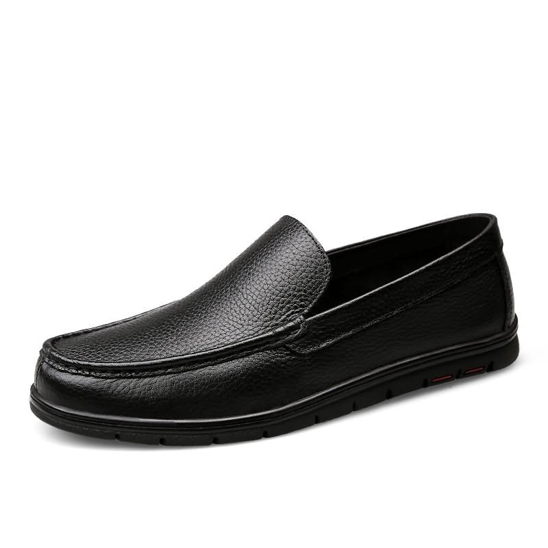 Men Breathable Casual Shoes High Quality Leather Flats Fashion Casual Shoes (1 pair)