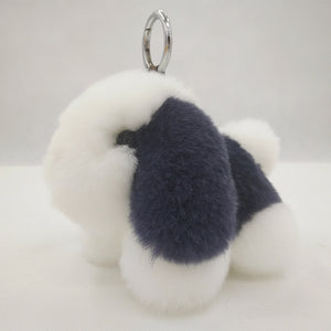 Company Annual Conference Gift Beaver Rabbit Fur Puppy Dog Doll Hang A Stuffed Toy Bag