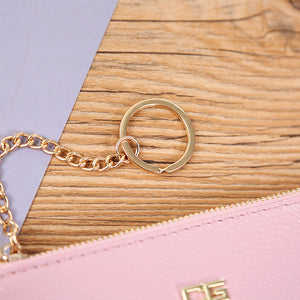 Female Mini Handbag Thin Cellphone Chain Bag Personalized Bag Solid Color Bag