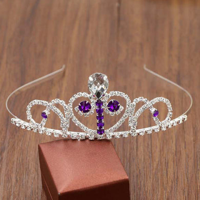 Children's Dress Accessories Sofia Crown Fashion Popular Water Drill Hair Hoop Accessories Headdress