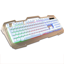 Direct Selling Ak-400 Metal 3-Color Backlight Game Keyboard Wired Suspension Mechanical Keyboard