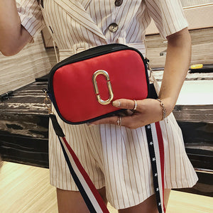 Alloy Ring Decorated Round Corner Fashion Star Pattern Strap Crossbody Bag
