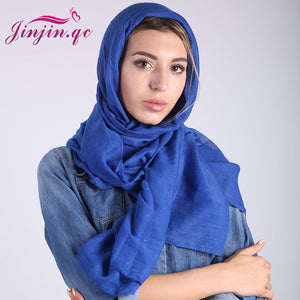 Solid Color Sun Blocking Voile Scarves for Women