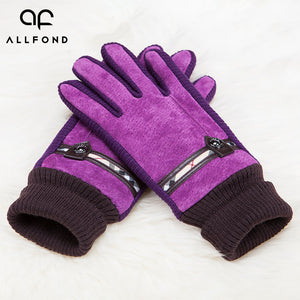Pigskin Shell Flannel Lining Knitting Cuffs Gloves