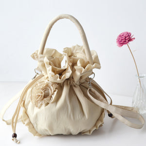 Cute Small Size Fabric Bags with Draw-String Closure