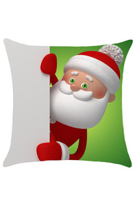 Cute Funny Curious Santa Claus Pattern Pillow Cover
