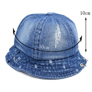Autumn Children's Hat Pierced Double Ring Cowboy Cloth Hat Of Fisherman'S Hat