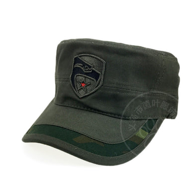 Eagle Pattern on Front Flat Profile Military Style Hat