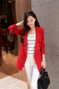 Women's Long Coat with Joint Knitting Sleeves