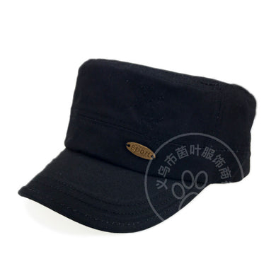 Solid Color Flat Profile Military Hat Men's Fashion Hat