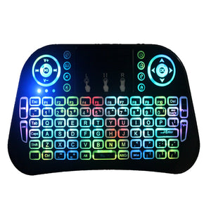 Backlit Keyboard i10 Mini Wireless Gaming 2.4GHz Touchpad Remote Control for Android TV BOX X96 T95 M8S PC PS3