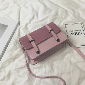 Color Contrast Mini Size Cute Simple Design Crossbody Bags