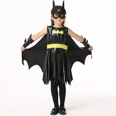 Holiday Birthday Children's Cosplay Costumes Batman Roleplay Sets Simulation Leather Western Halloween Girls Boys