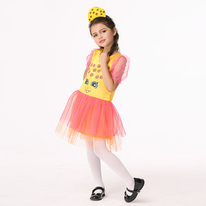 Giraffe Halloween Girls Cosplay Dresses/Headwear Children's Cartoon Costume Anime Costumes Holiday Birthday Play Suits
