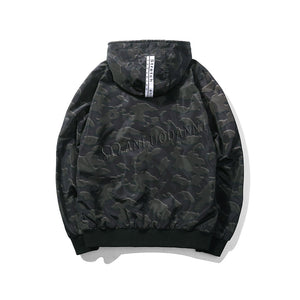 Men's Camouflage Pattern Hoodies Jacket Fashion Autumn Outwear