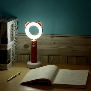 LED Table Lamp USB Charging Cute Eye Protection Cartoon Fold Night Light Portable Decoration Gift Badroom Table Lamp