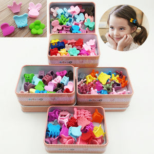 20pcs Women Girl Kids Mini Hair Claw Clips Flower Hair Bangs Pin