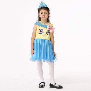 Halloween children Spider Costume Girls Cosplay Animation Costume Play Spider Clothing GIRL DRESS