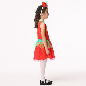 Children's Cartoon Costume Girls Cosplay Anime Pumpkin Play Costume Cute Princess Dress Suits Big Size