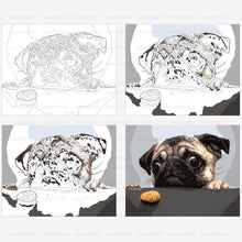Unframe Dog And Cake DIY Painting By Numbers Modern Wall Art Picture Handpainted Oil Painting Unique Gift Home Decor Box