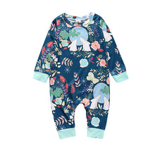Ribbed Cuffs Long Sleeves Baby's One-Piece Rompers