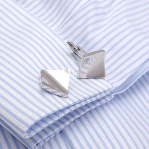 Super Quality Silver Cufflinks Wedding Gift Gemelos Cuff links