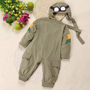 Baby's Pilot Fashion Overall with Hat