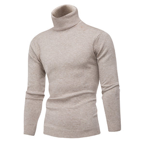 Turtle Neck Pure Color Pullover Sweaters