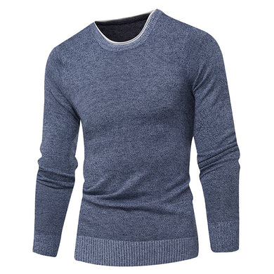 Casual Slim Fitting ROund Neck Pullover Sweaters