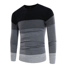 Color Contrast Long Sleeves Pullover Sweaters for Men