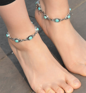 Anklets Bracelet For Women Boho Pendent Double Layer Anklet Bohemian Foot Jewelry Gift