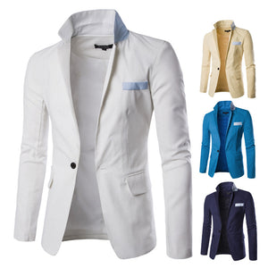 Casual Daily Suit Jackets with Notch Lapels and Flap Pockets