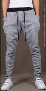 Solid Color Sports Leggings Slimline Joggers Men's Elastic Pants