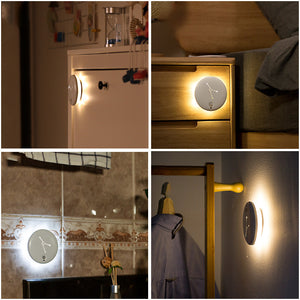 Intelligent LED Sensing Night light Human Body Motion Induction Lamp USB Charging Infrared Mini Corridor Wall Lamp