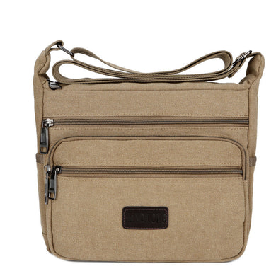 Men's Canvas Single Shoulder Bag Leisure Backpack Men Slant Bag Canvas Backpack New Products