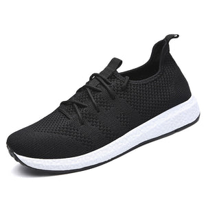 Breathable Knitting Vamp Lace Up Training Shoes