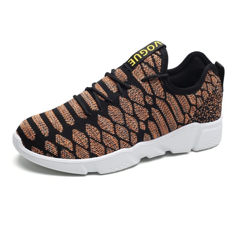 Lace Up Diamond Pattern Breathable Lightweighted Sneakers for Men (1 pair)