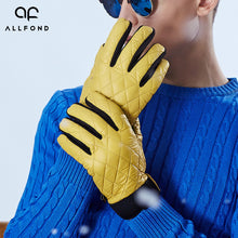 Check Quilted Warm Keeping Men's Winter Gloves