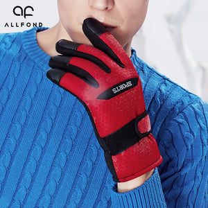 Color Blocks Skid Resistant Cycling Gloves for Men