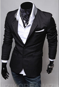 Long Sleeves Two Button Casual Suit Jackets for Men