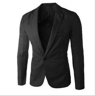 One Button Notch Lapels Men's Casual Suit Jacket