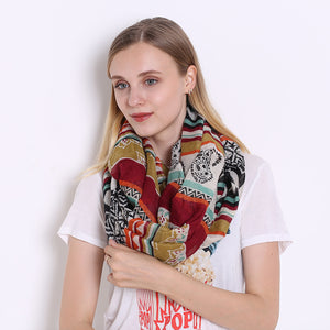Exotic Pattern Women's Elegant Voile Scarf