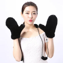 Mink Fur Mittens Fashion and Warm Keeping Gloves