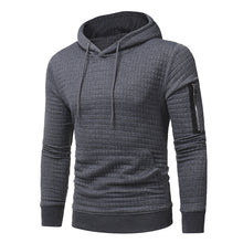Plaid Check Woven Men's Thickened Hoodies