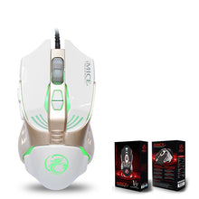 Direct Selling V5 Game Eat Chicken Mouse USB Cable Programming Machine Mouse Seven Color Photoelectric Race