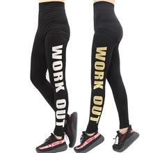High Elastic Slimming Dancing Pants Letter Print Sporting Leggings Plus Size Fitness Female For Bodybuilding Aerobics Exercise