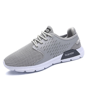 Atheletic Kicks Breathable Vibration Absorption Lace Up Sneakers