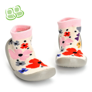 Flower Pattern Sock Shoes Suitable for 1-3-year-old Kids  Toddler Shoes