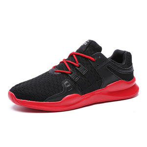 Breathable Mesh Vamp Lace Up Men's Outdoor Sneakers