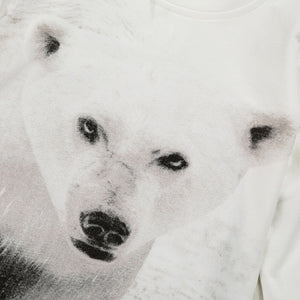 Polar Bear Printed Baby's One-Piece Overalls